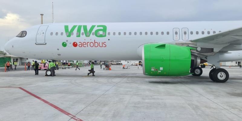 El primer A321neo de Viva Aerobus llega a México